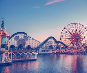 amusement park, california, and disneyland image