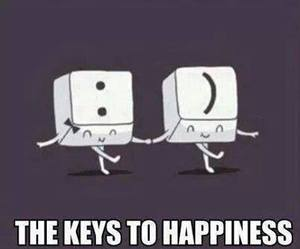 happiness, key, and happy image