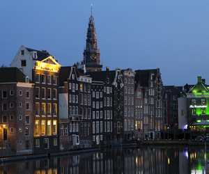 amsterdam, city, and evening image