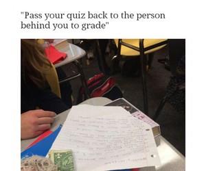 funny, school, and money image