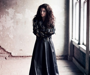 lorde, black, and music image