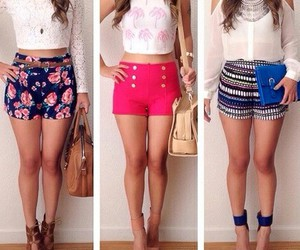 fashion, outfit, and shorts image