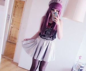 pastel goth, goth, and pastel image