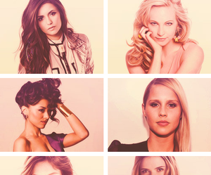 the vampire diaries, Nina Dobrev, and claire holt image