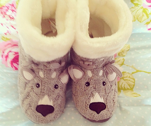 cute, slippers, and boots image
