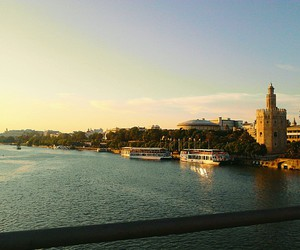place, seville, and spain image