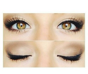 eyes, makeup, and andrea russett image