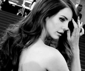 black and white, lana, and Hot image