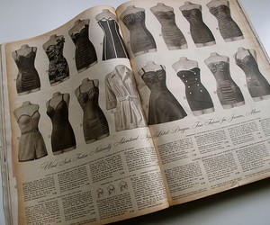vintage, book, and dress image