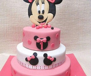 cake, minnie, and disney image
