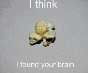 brain, popcorn, and text image
