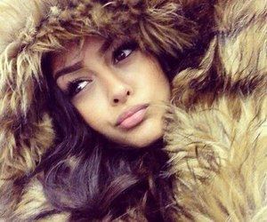 girl, beauty, and fur image