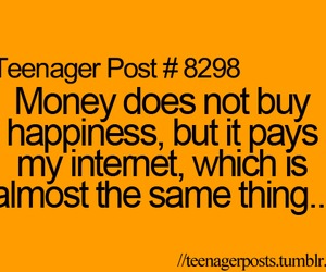 money, internet, and happiness image