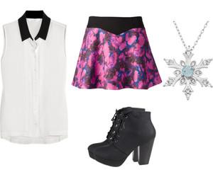 Polyvore, white, and snowflake. fashion image