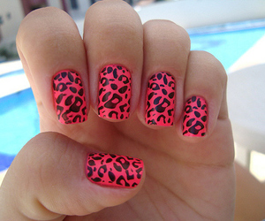 animal print, girl, and pink image