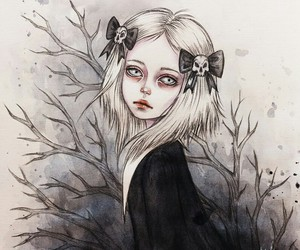 art, drawing, and lenore image