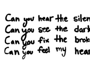 can you, dark, and heart image