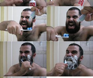 beard, funny, and laugh image