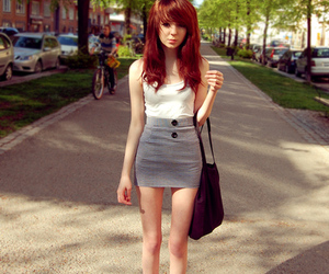 girl, skinny, and red hair image