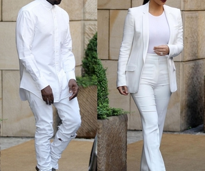 kim kardashian, fashion, and kanye west image