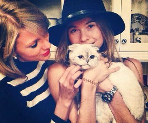 Taylor Swift, cat, and Behati Prinsloo image