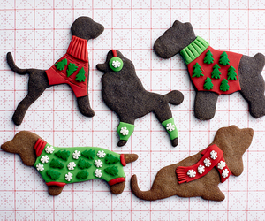 christmas, Cookies, and dogs image