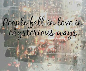 people, love, and fall image