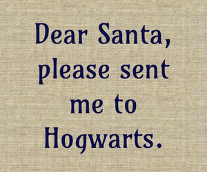 hogwarts and santa image