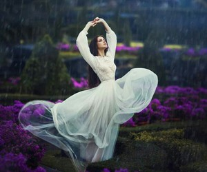 dress, rain, and dance image