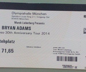 bryan adams, concert tickets, and music image