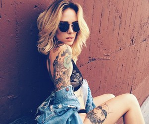 girl, inked, and ink image
