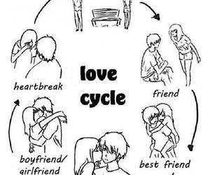 break up, love, and broken image
