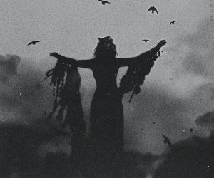 dark, black, and witch image