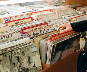 music, bob dylan, and the beatles image