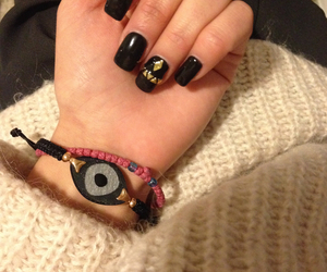 black nails, nail, and nailart image