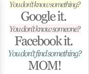 google, facebook, and mom image