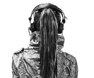 music, drawing, and headphones image