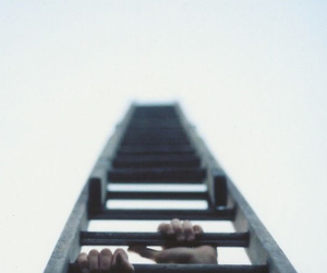 sky, hands, and ladder image