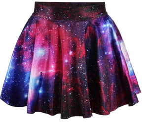 galaxy, skirt, and planet image
