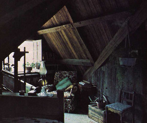 wood, small, and attic image