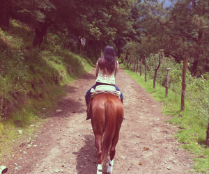 beauty, caballo, and girl image