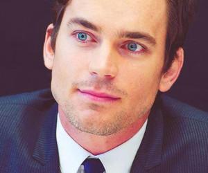 matt bomer, white collar, and blue eyes image