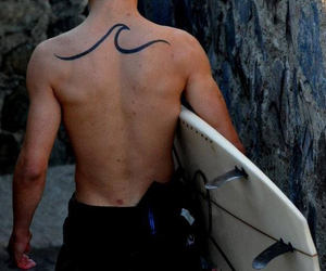 boy, surf, and tattoo image