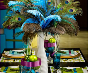 amazing, feathers, and peacock decor image