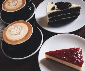 cake, coffee, and food image