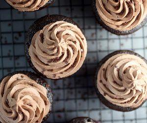 cupcake, chocolate, and dessert image