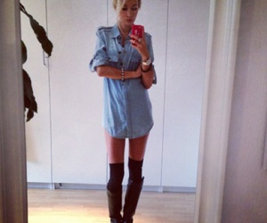 blonde, boots, and casual image
