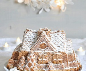 food, winter, and cake image