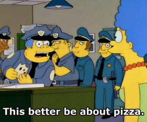pizza, funny, and marge image