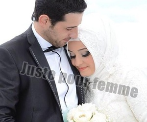 amour, wedding, and women image